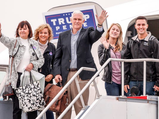 Pence and family