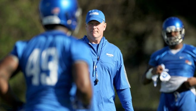 March 22, 2016 - University of Memphis defensive coordinator Chris Ball.