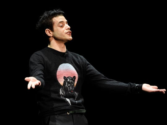 "Rami Malek, who plays late Queen singer Freddie Mercury in the upcoming film ""Bohemian Rhapsody,"" discusses the film at CinemaCon."