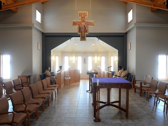 The Poor Clares of Montana monastery chapel.