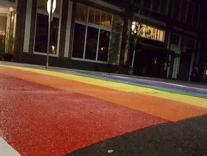 Rainbow crosswalks are installed at 11 intersections