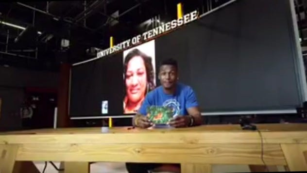 The Tennessee football team produced a special Mother's Day tribute video on Sunday to honor players' moms.