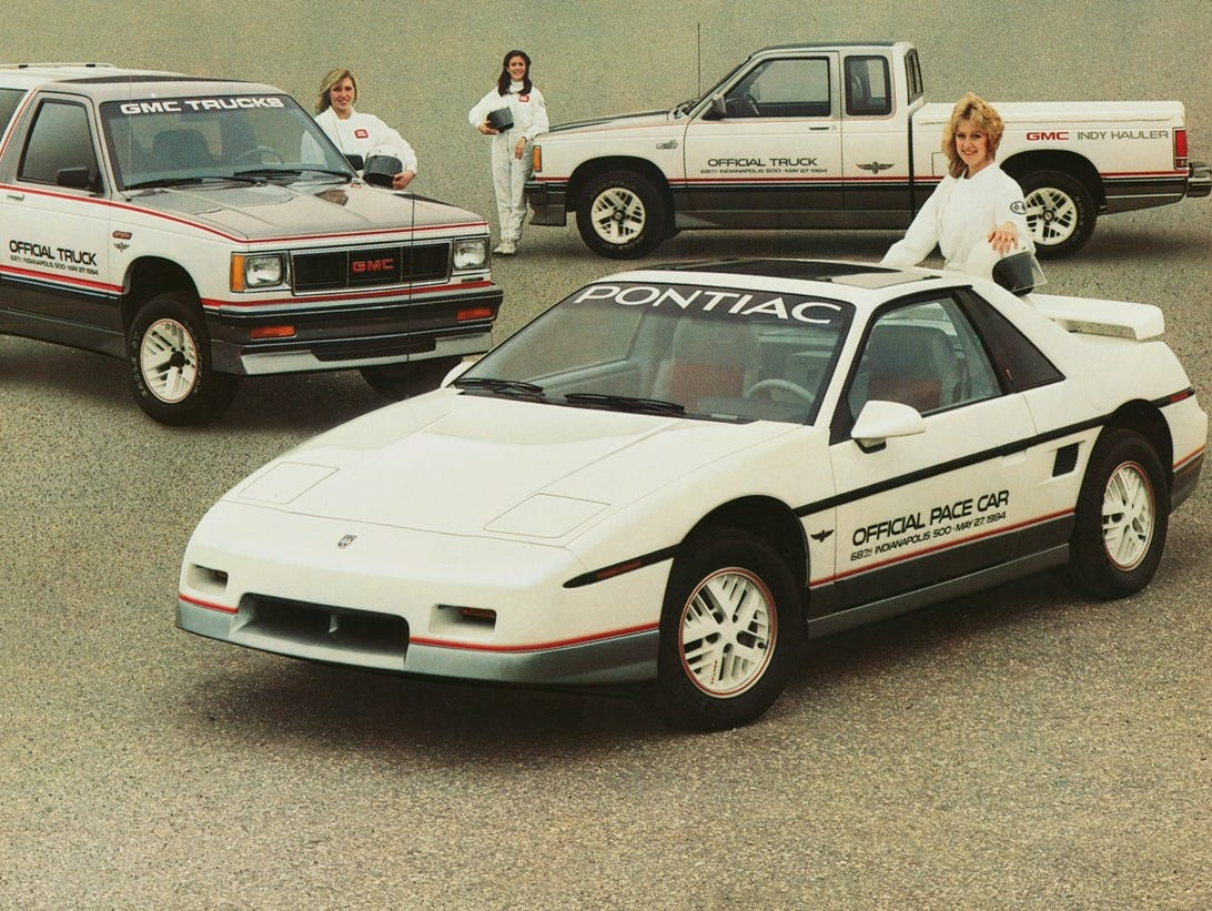 The 1984 pace car, a Pontiac Fiero, was the first four cylinder pace car since a 1912 when Indy's own Stutz paced the race.