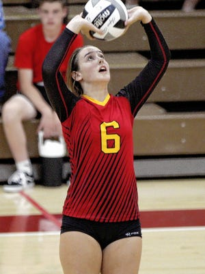 Senior setter Raegen Bickley is one of the top returnees for the Big Walnut girls volleyball team and 31st-year coach Ron Lehman.
