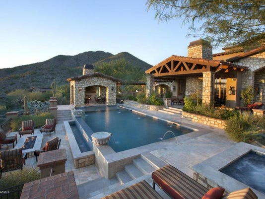 Mary Riccobene used her trust to pay $7.2 million in cash for this five-bedroom, 6-bath, 9,684 square-foot home with pool, spa, 5-car garage and guest house at Silverleaf in Scottsdale. The sale closed during the week of June 23, 2015.