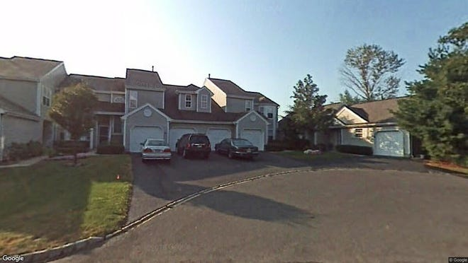 This Google Street View image shows the approximate location of 54 Pagoda Ln in Freehold Township. The property at this address changed hands in May 2019, when Jeremy L Pulley bought the property from B. Secure, Inc for $266,500.