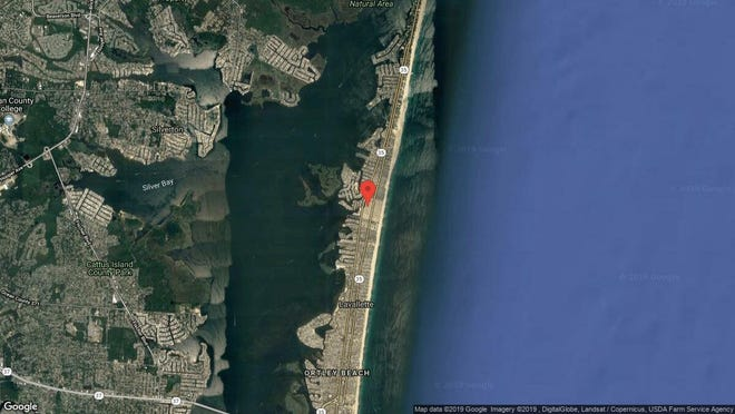 This aerial photo shows the approximate location of 115 West Pompano Way in Toms River. The property at this address changed hands in May 2019, when Nicholas M Dilorenzo bought the property from Lois Rucko for $285,000.