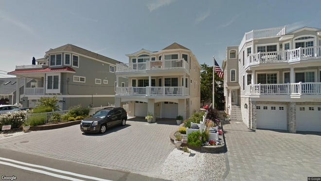 This Google Street View image shows the approximate location of 7212 Ocean Blvd{dot} in Long Beach Township. The property at this address changed hands in April 2019, when James and Jo-Anne Kleeman  bought the property from Gary and Jennifer Nevins  for $1,375,000.