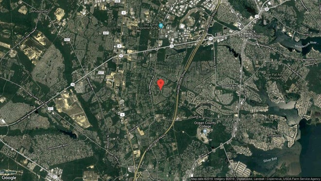This aerial photo shows the approximate location of 1952 Kwansan Court in Toms River. The property at this address changed hands in March 2019, when Lori, Robert and Phyllis Coe bought the property from Maureen Scianimanico  for $349,900.