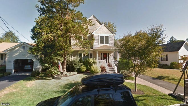This Google Street View image shows the approximate location of 96 Manito Road in Manasquan. The property at this address changed hands in May 2019, when James and Kristen Kenna  bought the property from Martin J and Cheryl A Mchugh  for $630,000.
