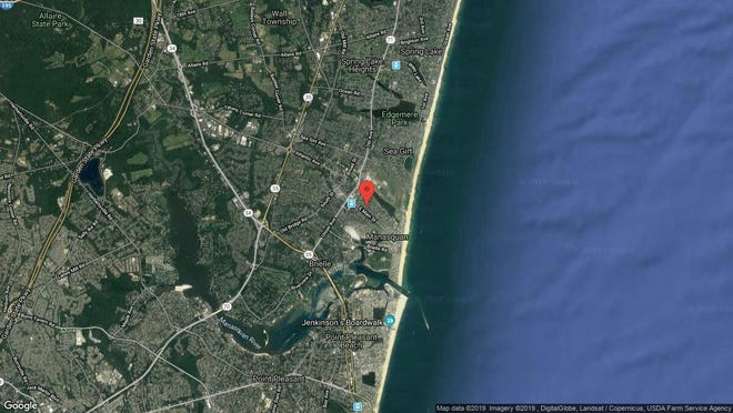 This aerial photo shows the approximate location of 50-50-1/2 Fletcher Ave{dot} in Manasquan. The property at this address changed hands in May 2019, when  David E Cox  and  James C Alberts   bought the property from  Brian Luther  for $590,437.
