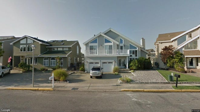 This Google Street View image shows the approximate location of 13 Captains Court in Manasquan. The property at this address changed hands in May 2019, when Michael Raymond and Nancy Anne Smith  bought the property from  Elaine L Johnson  for $1,550,000.