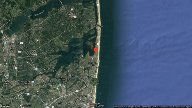This aerial photo shows the approximate location of Wharfside Unit 42 in Monmouth Beach. The property at this address changed hands in May 2019, when Kujtim and Arbresha Mucaj  bought the property from  Scimemi, Mary, Trustee  for $229,500.