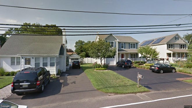 This Google Street View image shows the approximate location of 1786 Belmar Blvd{dot} in Wall. The property at this address changed hands in May 2019, when  Matthew W Deangelis  and  Krist Milby   bought the property from Katerina and Barry Yager  for $528,000.