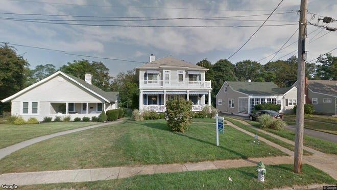 This Google Street View image shows the approximate location of 348 S{dot} Blvd{dot} in Spring Lake. The property at this address changed hands in March 2019, when John P and Christine A Horan  bought the property from Desmond X and Mary Elaine Slattery  for $1,525,000.