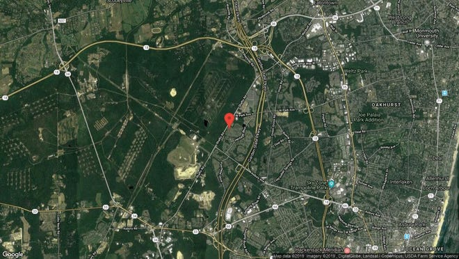 This aerial photo shows the approximate location of 28 Austin St{dot} in Tinton Falls. The property at this address changed hands in June 2019, when  David Makow  bought the property from  Patrick Belardo  and  Albert Malgeri   for $385,000.