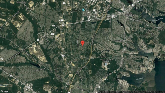 This aerial photo shows the approximate location of 1532 Alpen Lane in Toms River. The property at this address changed hands in March 2019, when John B and James A Sesso  bought the property from  Gladys A More  for $230,000.