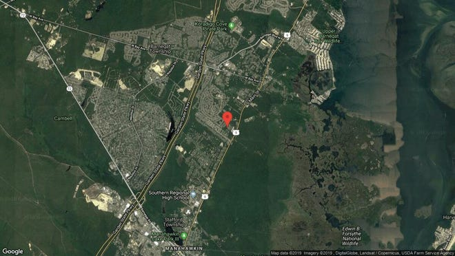 This aerial photo shows the approximate location of 10 Sterling Lane in Barnegat. The property at this address changed hands in April 2019, when  Cody Hampl  and  Jamie Cali   bought the property from  Amrou Ahmed  for $285,000.