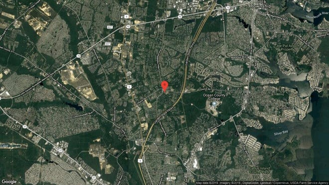This aerial photo shows the approximate location of 1709 Symphony Lane in Toms River. The property at this address changed hands in May 2019, when Yehonattan D and Shirley S Aryeh  bought the property from  Brian Myslinski  and  D B Toledo   for $800,000.