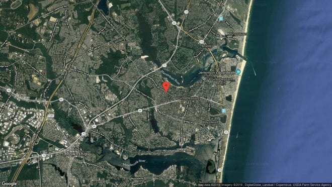 This aerial photo shows the approximate location of ? in Point Pleasant. The property at this address changed hands in April 2019, when  Douglas M Homan Jr{dot}  bought the property from  Homero E Chauca  and  Lilian Calle   for $322,500.