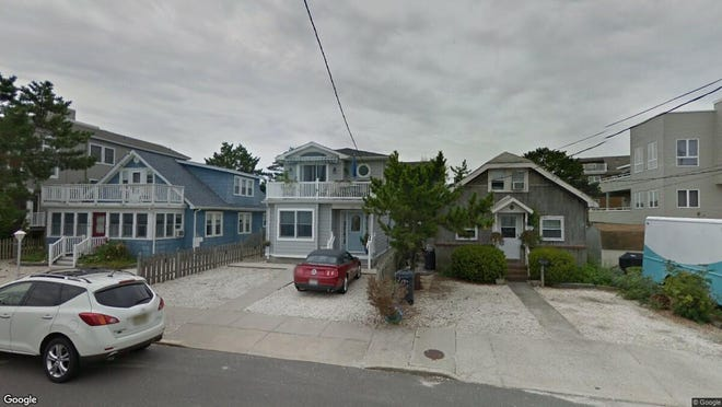 This Google Street View image shows the approximate location of 102 E{dot} 15th St{dot} in Ship Bottom. The property at this address changed hands in May 2019, when Kelly D and Jill Perkins  bought the property from  Rosario Leo Radich Living Trust  for $425,000.