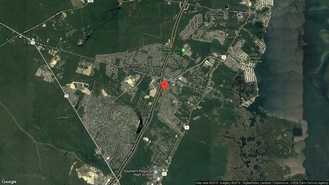 This aerial photo shows the approximate location of 75 Sandpiper Road in Barnegat. The property at this address changed hands in May 2019, when Edward F and Jacquelyn L Pergola  bought the property from Debra A and Paul M Christian and others  for $205,000.