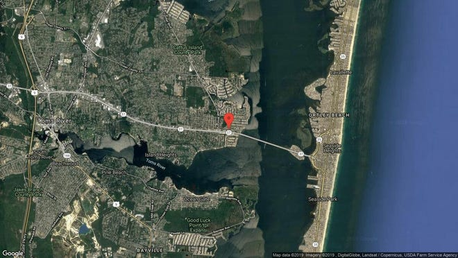 This aerial photo shows the approximate location of 3247 Mystic Port Place in Toms River. The property at this address changed hands in April 2019, when Frank and Joanna Palmitessa  bought the property from  Melissa D Snock  for $150,000.