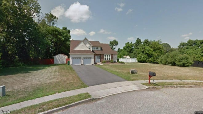 This Google Street View image shows the approximate location of 10 Lina Drive in Plumsted. The property at this address changed hands in June 2019, when Ricardo and Jennifer Parracho bought the property from Michael F and Judith C Cardella for $425,000.