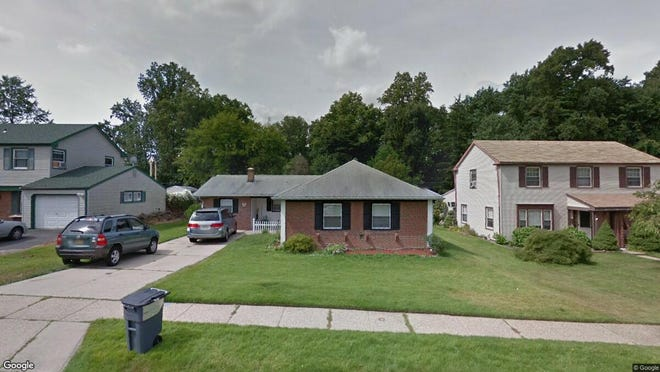 This Google Street View image shows the approximate location of 97 Plumtree Lane in Willingboro. The property at this address changed hands in April 2019, when Tameka and Earl Champagne bought the property from David Pulsinelli for $133,500.