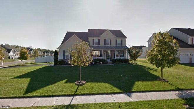 This Google Street View image shows the approximate location of 14 Cambridge Lane in Winslow. The property at this address changed hands in May 2019, when Brookfield Relocation Inc bought the property from Angela J Derbish for $285,000.
