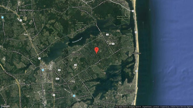 This aerial photo shows the approximate location of 117 Ridge Road in Rumson. The property at this address changed hands in June 2019, when Ray and Michelle Brown  bought the property from Blair and Elizabeth O'Connor  for $2,750,000.
