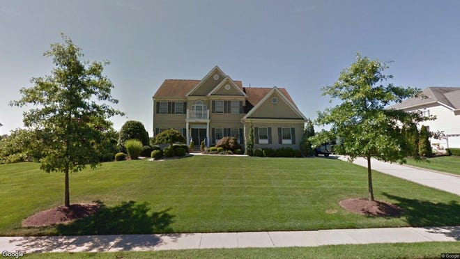 This Google Street View image shows the approximate location of 11 Pegasus Drive in Tinton Falls. The property at this address changed hands in June 2019, when Michael and Caitlin Tedeschi  bought the property from  Gregg Klein and  Joyce Erickson-Klein  for $865,000.