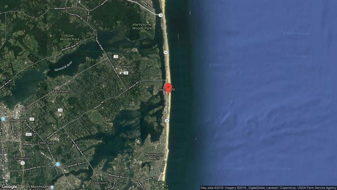 This aerial photo shows the approximate location of 1187 Ocean Ave{dot} Unit 37 in Sea Bright. The property at this address changed hands in June 2019, when Vladimir and Elena Spektor  bought the property from Dennis and Ramona Morabito  for $283,000.