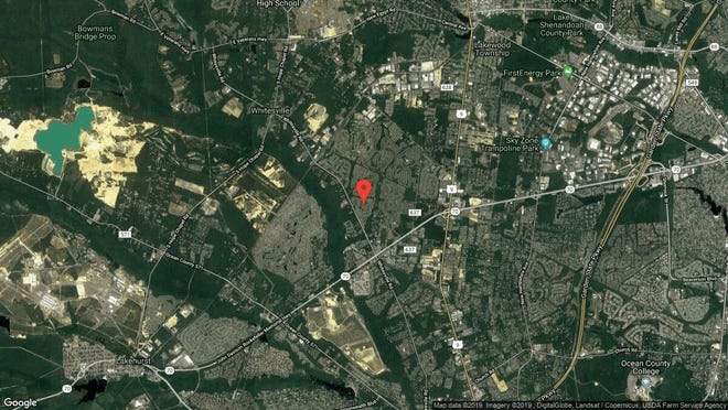 This aerial photo shows the approximate location of 2321 Sherwood Forest Drive in Toms River. The property at this address changed hands in June 2019, when Sholom D and Ahuva B Gottlieb bought the property from Marc and Jaimie Gigerian for $615,000.