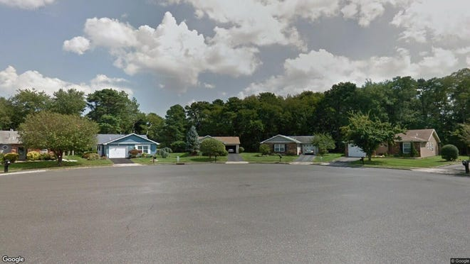 This Google Street View image shows the approximate location of 63 Blue Ridge Drive in Brick. The property at this address changed hands in May 2019, when Robert T Brown bought the property from Willis Estate Simmons for $200,000.
