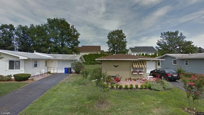 This Google Street View image shows the approximate location of 14 Poe Road in Brick. The property at this address changed hands in June 2019, when Robert Ribustelli and Susan Smith bought the property from Margaret Sayegh for $195,000.