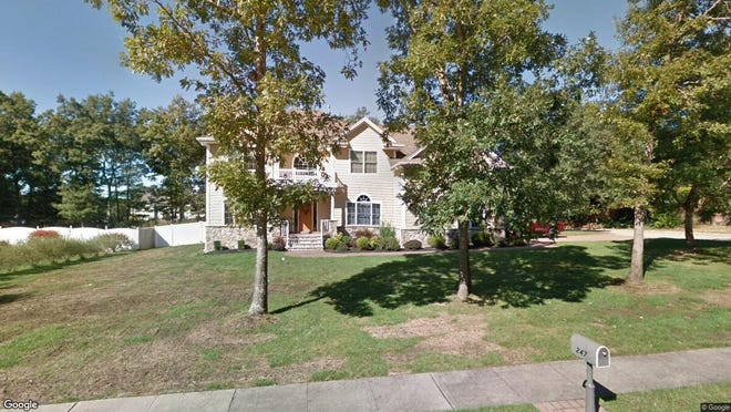 This Google Street View image shows the approximate location of 247 Downhill Run in Toms River. The property at this address changed hands in June 2019, when Aryeh L and Rivky Lasker bought the property from Joseph J and Tammy Howell for $715,000.