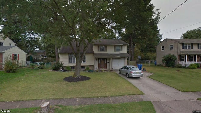 This Google Street View image shows the approximate location of 134 Kipling Road in Cherry Hill. The property at this address changed hands in June 2019, when new owners bought the property for $268,000.