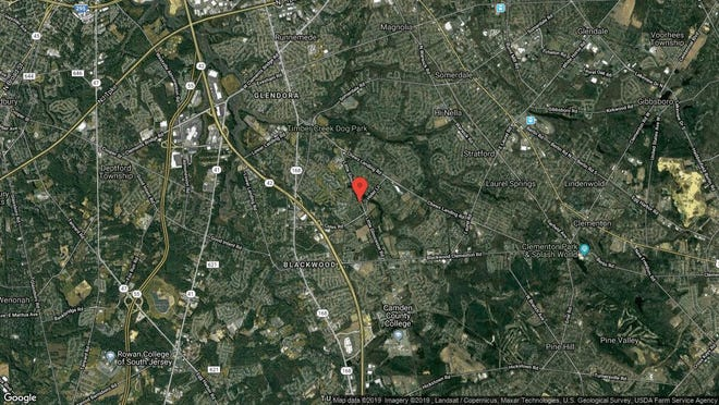 This aerial photo shows the approximate location of 5008 Aberdeen Lane in Gloucester Township. The property at this address changed hands in August 2019, when new owner bought the property for $153,000.