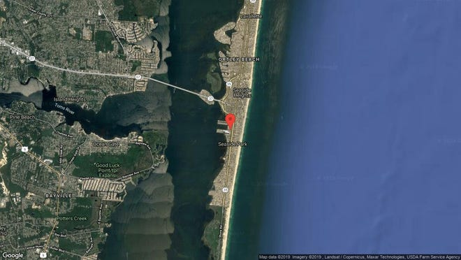 This aerial photo shows the approximate location of 118 K St. in Seaside Park. The property at this address changed hands in June 2019, when new owner bought the property for $525,000.