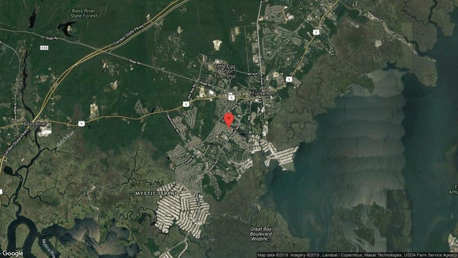 This aerial photo shows the approximate location of 16 Sunrise Bay Blvd. in Little Egg Harbor. The property at this address changed hands in June 2019, when new owners bought the property for $205,000.