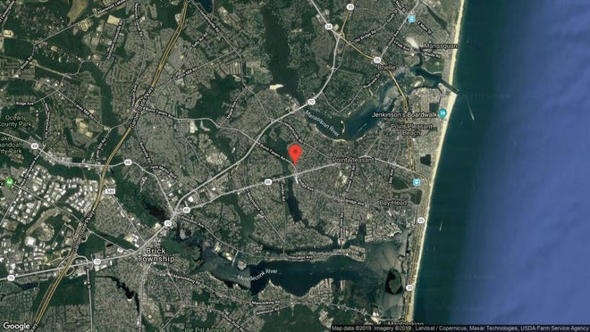 This aerial photo shows the approximate location of 3401 Bridge Ave. Unit 36 in Point Pleasant. The property at this address changed hands in July 2019, when new owner bought the property for $176,000.