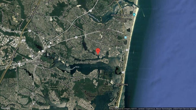 This aerial photo shows the approximate location of 47 Hidden Harbor in Point Pleasant. The property at this address changed hands in July 2019, when new owner bought the property for $400,000.