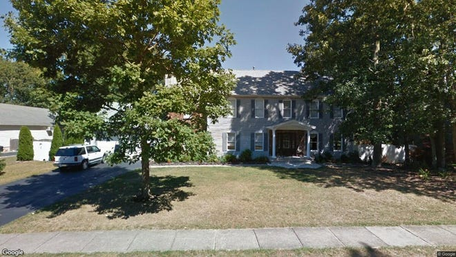 This Google Street View image shows the approximate location of 770 Tall Oaks Drive in Brick. The property at this address changed hands in July 2019, when new owner bought the property for $588,000.