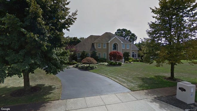 This Google Street View image shows the approximate location of 1402 Vincenzo Drive in Toms River. The property at this address changed hands in July 2019, when new owner bought the property for $1,100,000.