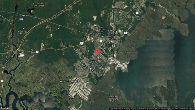 This aerial photo shows the approximate location of 49 Nautic Way in Little Egg Harbor. The property at this address changed hands in July 2019, when new owner bought the property for $215,000.