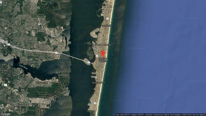 This aerial photo shows the approximate location of 1210 Blvd. in Seaside Heights. The property at this address changed hands in June 2019, when new owner bought the property for $177,500.