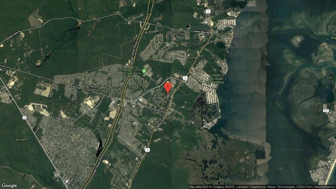 This aerial photo shows the approximate location of 316 Hawthorne Lane in Barnegat. The property at this address changed hands in July 2019, when new owner bought the property for $280,000.