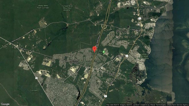 This aerial photo shows the approximate location of 10 Pulaski Drive in Barnegat. The property at this address changed hands in July 2019, when new owner bought the property for $285,000.