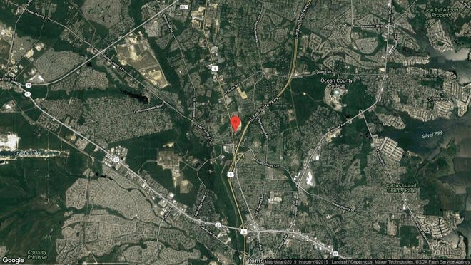This aerial photo shows the approximate location of 15 Dugan Lane in Toms River. The property at this address changed hands in May 2019, when new owner bought the property for $235,000.